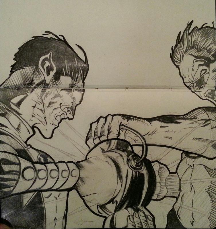 Green Lantern vs Sinestro for Geoff Johns